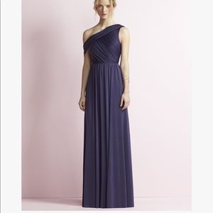 Jenny Yoo Bridesmaid Off Shoulder Blue Gown NWT 16